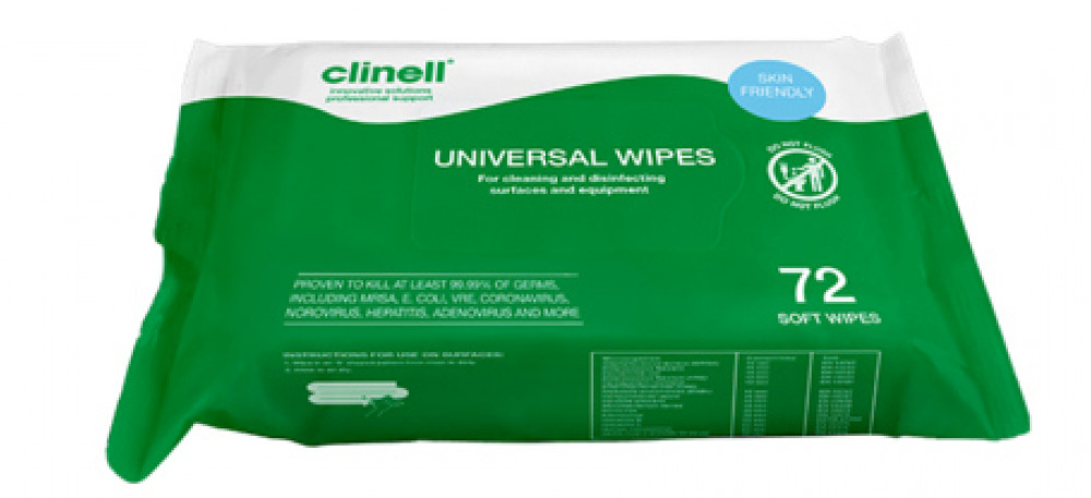 72 Clinell Wipes