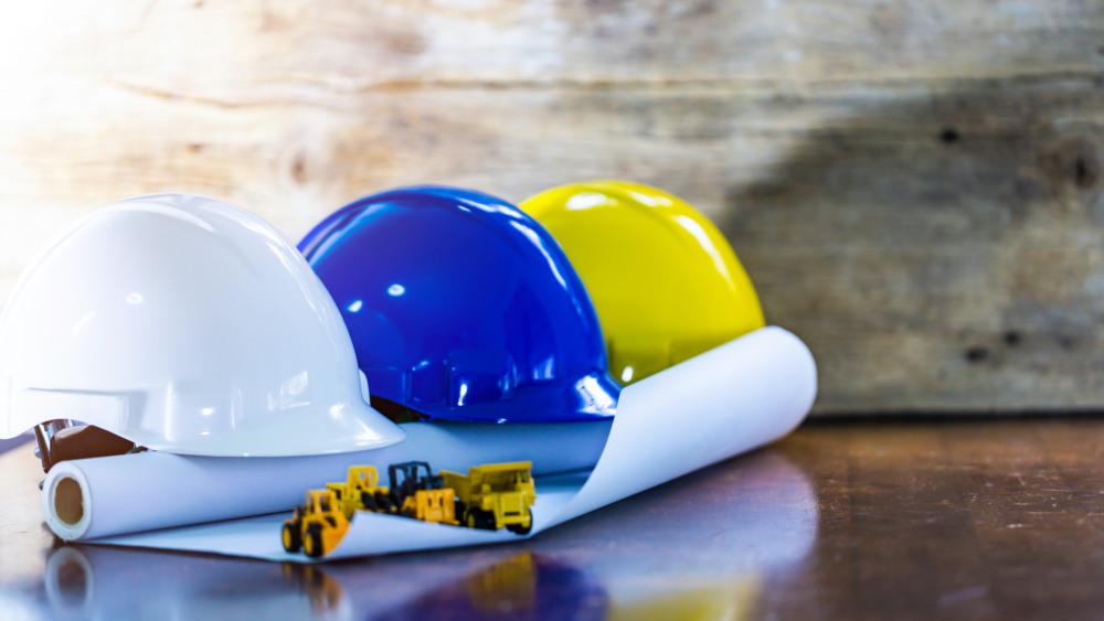 PPE coloured helmets